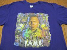 CHRIS BROWN F.A.M.E. FORGIVING ALL MY ENEMIES PURPLE T-SHIRT-LARGE RARE FAME