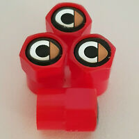 SMART Red Plastic Valve Dust caps all models more colors fortwo forfour brabus