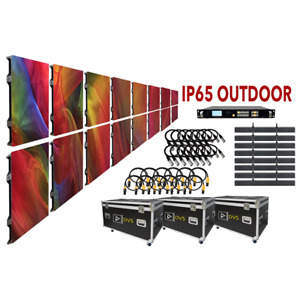 NEW 13-FT x 7-FT P4 IP65 OUTDOOR LED SCREEN VIDEO WALL SYSTEM PACKAGE