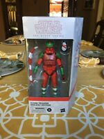 Star Wars The Black Series Clone Trooper Holiday Edition with Porg