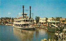 Amusement Disneyland Anaheim California Mark Twain Crocker Postcard 9623