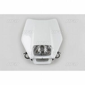 Verkleidung Scheinwerfermaske Motorrad Cross Enduro Ghibli Weiß UFO Halogentrafo