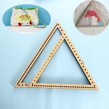 DIY Craft Handmade Hanging Decoration Knitting Wooden Weaving Loom Triangle