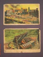 Lot of 2 - 1906 San Francisco Earthquake Postcards - Shelter & Trail of Quake