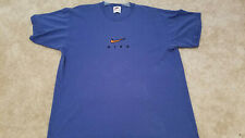 Vintage NIKE Embroidered Men's Shirt Made In USA L Blue  1990's white tag