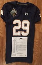 Notre Dame Football 2014 Team Issued Music City Bowl Under Armour jersey #29 COA