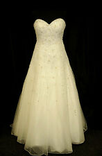 Ronald Joyce Designer Wedding Dress 68006 Renata Ivory Size 16 RRP £1199
