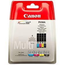 Canon cli-551 Pixma Mg5450 Mg5550 Mg5650 Genuino Cartuchos de Tinta Multipack