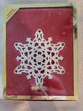 Lenox 2002 Snowflake Snow Fantasies Holiday Christmas Tree Ornament