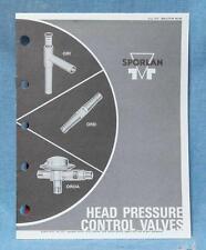Vintage Sporlan Head Pressure Control Valves Bulletin Catalog 1976 dq