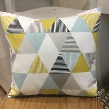 "Clarke & Clarke Studio g brio Geometric/Retro/Scandi 16"" Cushion Cover Teal"