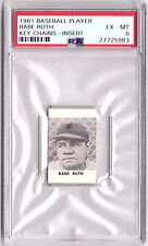 1961 Topps Key Chains Babe Ruth PSA 6  Pop. 2  Only 1 Higher!  Extremely Rare!