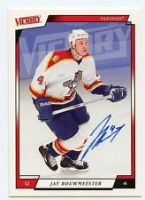 JAY BOUWMEESTER PANTHERS AUTOGRAPH AUTO 06-07 UPPER DECK VICTORY #86 *35497