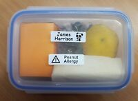 25 Stick-on name labels - ideal for lunchboxes and shoes