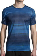 Brooks Ghost Short Sleeve Mens Running Top - Blue