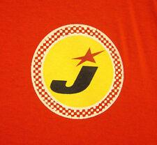 JED's Bar logo tee Toledo OHIO lrg orange T shirt barbeque beer longsleeves OG