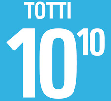 ITALIA TOTTI NAMESET 2002 SHIRT CALCIO Numero Lettera di calore stampa Football Home
