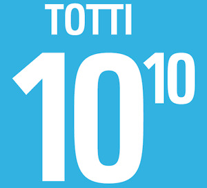 Italy Totti Nameset 2002 Shirt Soccer Number Letter Heat Print Football Home