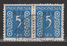 Indonesie Indonesie 46 RIS pair TOP CANCEL TJOMAL 1950 R.I.S Serikat