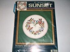 SUNSET (DIMENSIONS) NO COUNT BUTTERFLY WREATH CROSS STITCH KIT