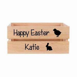 Personalised Easter Vinyl Sticker For Wooden Crate or other box LETTERING ONLY