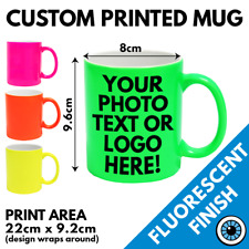 Custom Printed Neon Mug • Personalised Print Cup Gift Image Text Photo Band Mugs