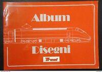 Ferrovie - Album Disegni Locomotive Automotrici 1980 / 1990 - ed. 1990