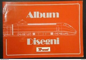 Ferrovie - Album Disegni Locomotive Automotrici 1980 / 1990 - ed. 1990