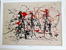 Jackson Pollock Untitled  1949-1949 Drip Style Painting  Offset Lithograph 14x11