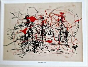 Jackson Pollock Untitled  1949-1949 Poster of  Painting of Figures 14x11