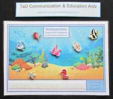 REWARD MOTIVATIONAL 7 FISH CHART - ADHD Autism SEN PECS Visual Behavioural Aid
