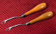 Set of 2 Readicut Wood Handle Rug Latch Hooking Tools ~ Ships Free Usa