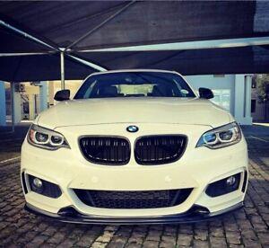 CARBON FIBER FRONT LIP 3D FOR BMW 2-SERIES F22 F23 220i 230I M235i M240i MSPORT