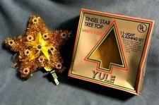 vintage Nib 1978 Tinsel Star Tree Top (11-Light Flashing Set) Christmas Topper