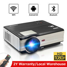 Android 6.0 Bluetooth Home Cinema Projector with 10W Speaker Airplay Movies HDMI