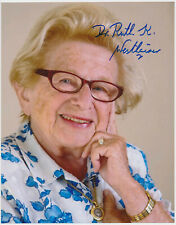 Dr. Ruth Westheimer hand signed Autograph Autogramm COA * Sexualtherapeutin