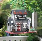 Biker bar Harley motorcycle wood fairy house Bird feeder decorative birdhouse