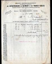 NANTES (44) Société d'APPROVISIONNEMENT de MATERIAUX pour le BATIMENT en 1929