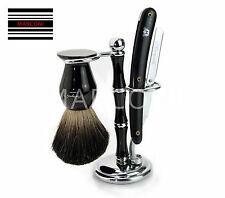 Double Edge Cut Throat Shaving Razor Badger Hair Shaving Brush Gift 4 Him