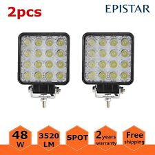 2PCS 48W Watt High Power LED Work Light Spot Lamp Car Offroad ATV 4WD 12V 24V