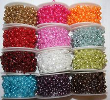 Perlenband Perlenschnur Perlenkette Tischdeko Hochzeit Kommunion Taufe 10m