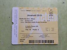 Biglietto Ticket usato Concerto jovanotti, stadio san siro milano 26.6.2015