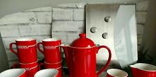More details for red nescafe coffee pot milk jug sugar bowl & 6x mugs magnetic board set