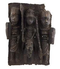 Bronze africain Benin -plaque de palais Bini Edo Nigeria-45x34-1274