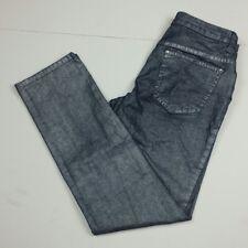 Venus Women's Size 6 Jeans Shiny Shimmer Rhinestones Denim Cotton Stretch READ