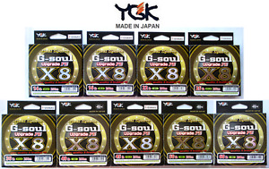 YGK Real Sports G-Soul Mise Pe X 8 Braided Fishing Line 200m-203mSea Bass