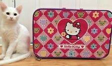 Vintage Sanrio Hello Kitty Pink Suit Case Carry On Travel Bag Luggage 90's