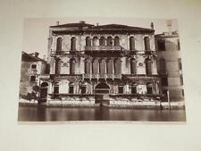 NAYA / VENISE VENEZIA 1870 Palazzo Manzoni Gran Canale VINTAGE Albumen Print