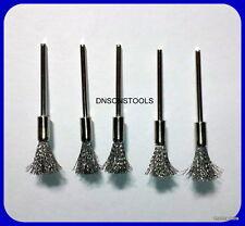 5x Carbono Alambre De Acero 5mm Cepillos Compatible Con Dremel Y Foredom Multi Herramienta