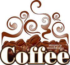 "Coffee Decal 14"" Beverages Concession Restaurant Food Trucks Vinyl Menu Sticker"